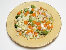 Fettucine with vegetables Stock Photography