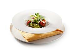 Fettucine verde Imagens de Stock