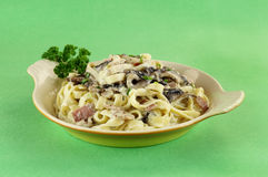 Fettucini Carbonara Fotos de Stock Royalty Free