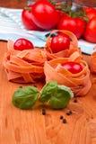 Fettucini con i pomodori Immagine Stock Libera da Diritti