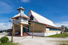 Fetu Ao Lima Morning Star Church of the Church of Tuvalu. Oceania royalty free stock image