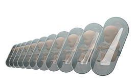 Fetus inside pill capsule 3d rendering Stock Photography