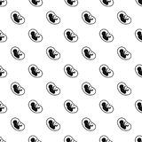 Fetus pattern vector. Fetus pattern seamless in simple style vector illustration Stock Photography