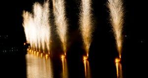 Feu d'artifice à la célébration de vacances de ville Photos libres de droits