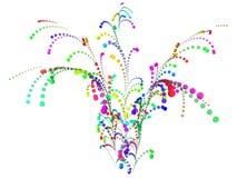 Feu d'artifice coloré des confettis Photo stock