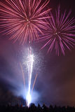 feu d'artifice d'affichage Photo stock