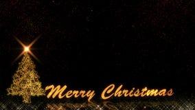 Feu d'artifice d'or de bokeh de particules d'éclat de lumière de la bonne année 2019 de Noël illustration de vecteur
