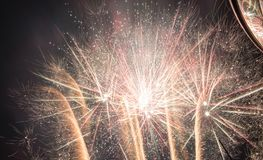 Feu d'artifice fantastique photographie stock