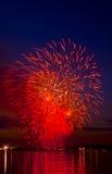 Feu d'artifice lumineux de célébration Photographie stock libre de droits