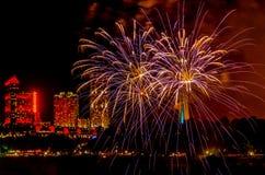 Feu d'artifice @ Niagara Photos libres de droits