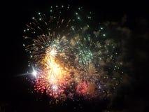 Feu d'artifice pour la célébration de nouvelle année Photos libres de droits