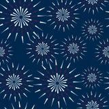 Feu d'artifice sans couture de modèle d'illustration pour le Jour de la Déclaration d'Indépendance des Etats-Unis Photos stock