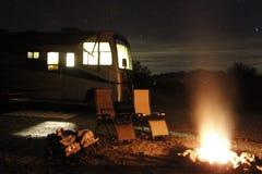 Feu de Boondocking près de Quartzsite, Arizona Photo libre de droits