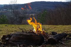 Feu de camp image stock
