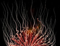 Feu de feu d'artifice Images libres de droits
