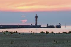 Feu de Saint Pol Lighthouse a Dunkerque immagini stock libere da diritti
