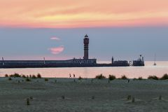 Feu de Saint Pol Lighthouse en Dunkerque imágenes de archivo libres de regalías