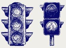 Feu de signalisation Photos libres de droits