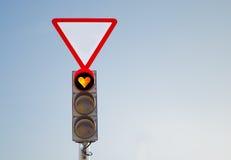 Feu de signalisation amoureux rouge Photo stock