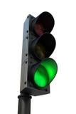 Feu de signalisation avec le feu vert Image libre de droits