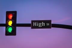 Feu de signalisation d'arc-en-ciel Images stock