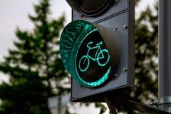 Feu de signalisation de bicyclette Photographie stock