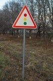 Feu de signalisation de signe Images libres de droits