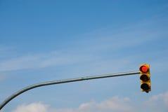 Feu de signalisation jaune Photo stock