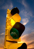 Feu de signalisation jaune Photographie stock