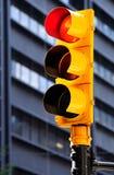Feu de signalisation jaune Images stock