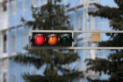 Feu de signalisation rouge images stock