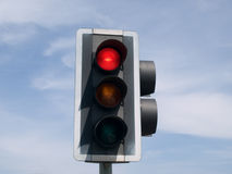 Feu de signalisation rouge Photos stock