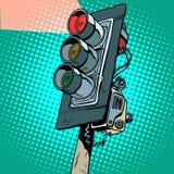 Feu de signalisation rouge illustration stock