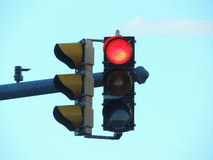 Feu de signalisation rouge aux Etats-Unis Images libres de droits