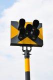 Feu de signalisation sur le chemin de fer Image libre de droits