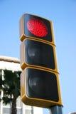 Feu de signalisation sur le rouge Photographie stock libre de droits
