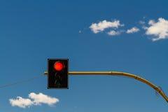 Feu de signalisation sur le rouge Photos libres de droits