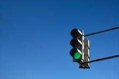 Feu de signalisation vert Images libres de droits