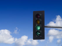 Feu de signalisation vert Photographie stock