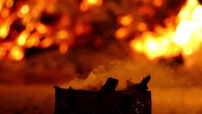 Feu et pyrotechnie Mouvement lent banque de vidéos