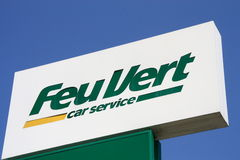 Feu Vert. Car service logo sign royalty free stock photography
