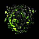 Feu vert de bloc de résumé illustration de vecteur