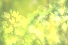 Feu vert de gradient de résumé et ressort ou fond coloré jaune de bokeh d'été Belle texture illustration de vecteur