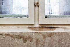 Feuchtigkeit und Form - Probleme in einem Haus stockbild