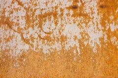 Feuchtigkeit verursacht Rost die Oberfläche des Metalls Lizenzfreies Stockbild