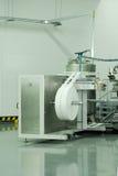 Feuchtpflegetuchproduktion Stockbild