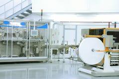 Feuchtpflegetuchproduktion Stockfoto