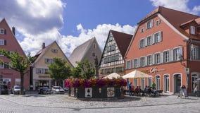 Feuchtwangen är en historisk stad i Bayern, Tyskland Fotografering för Bildbyråer