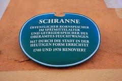 Feuchtwangen город в Баварии, Германии стоковые фото