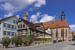 Feuchtwangen is an historic city in Bavaria Royalty Free Stock Photos